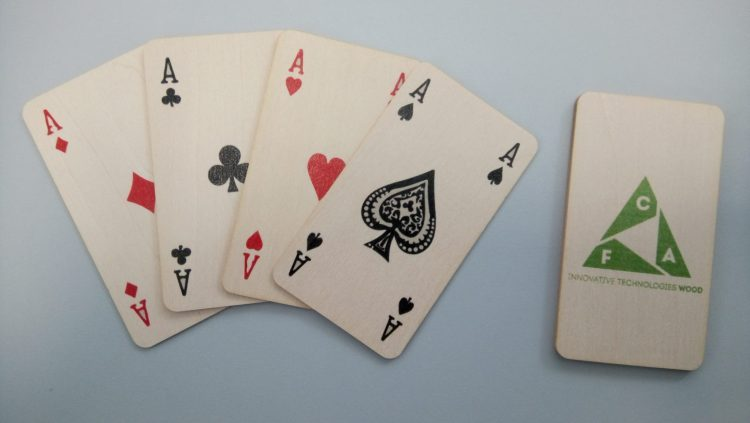 carte da gioco in legno taglio sottile wooden playing cards thin cutting