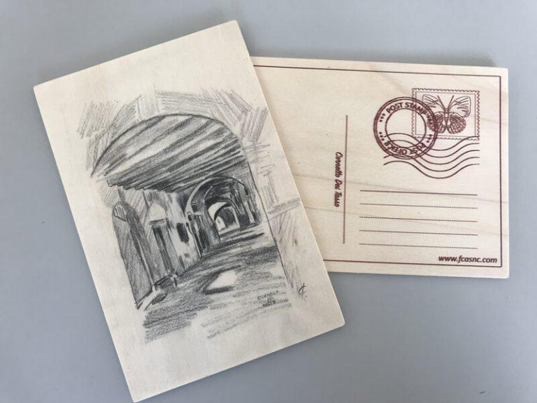 Cartolina in legno Cornello dei Tasso - 2
