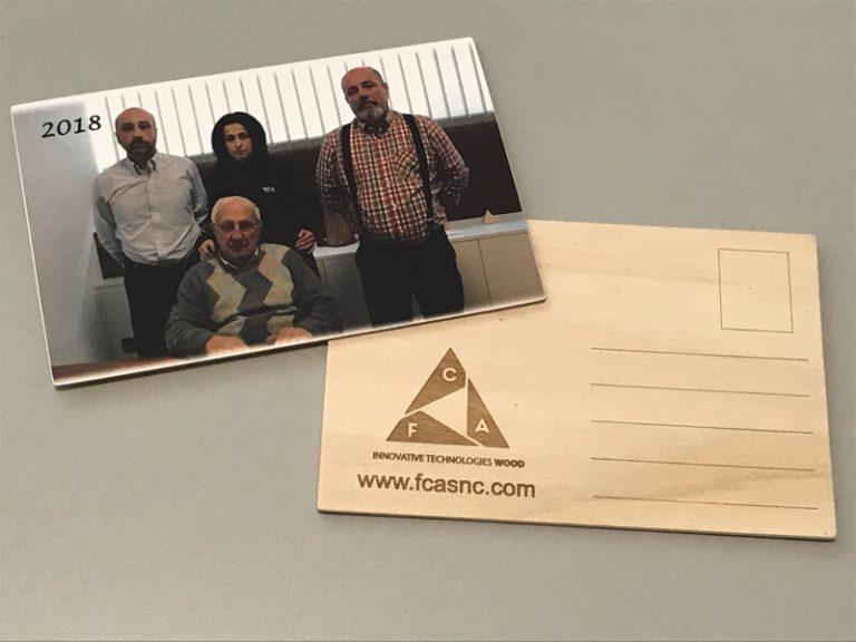 Cartoline in legno come regalo aziendale - 1